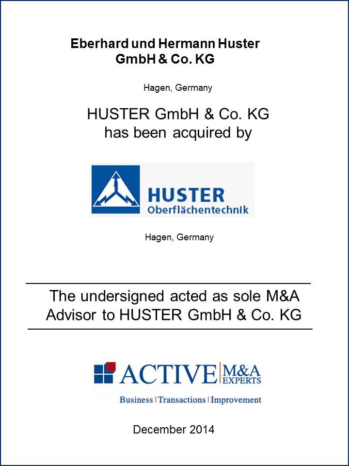 Huster GmbH & Co. KG wurde von Huster Oberflächentechnik gekauft