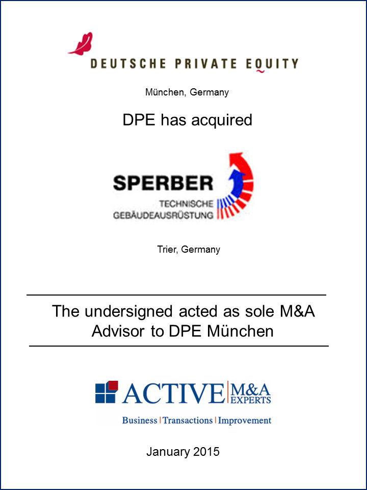 Deutsche Private Equity (DPE) hat Sperber gekauft