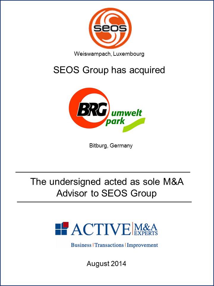 SEOS Group kauft BRG-Umweltpark