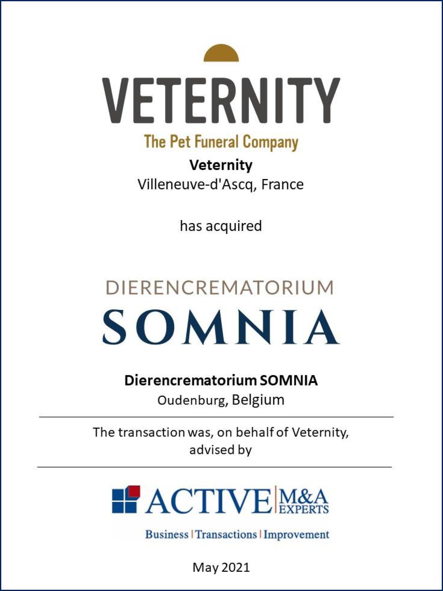 ACTIVE Beratung Veternity kauft SOMNIA