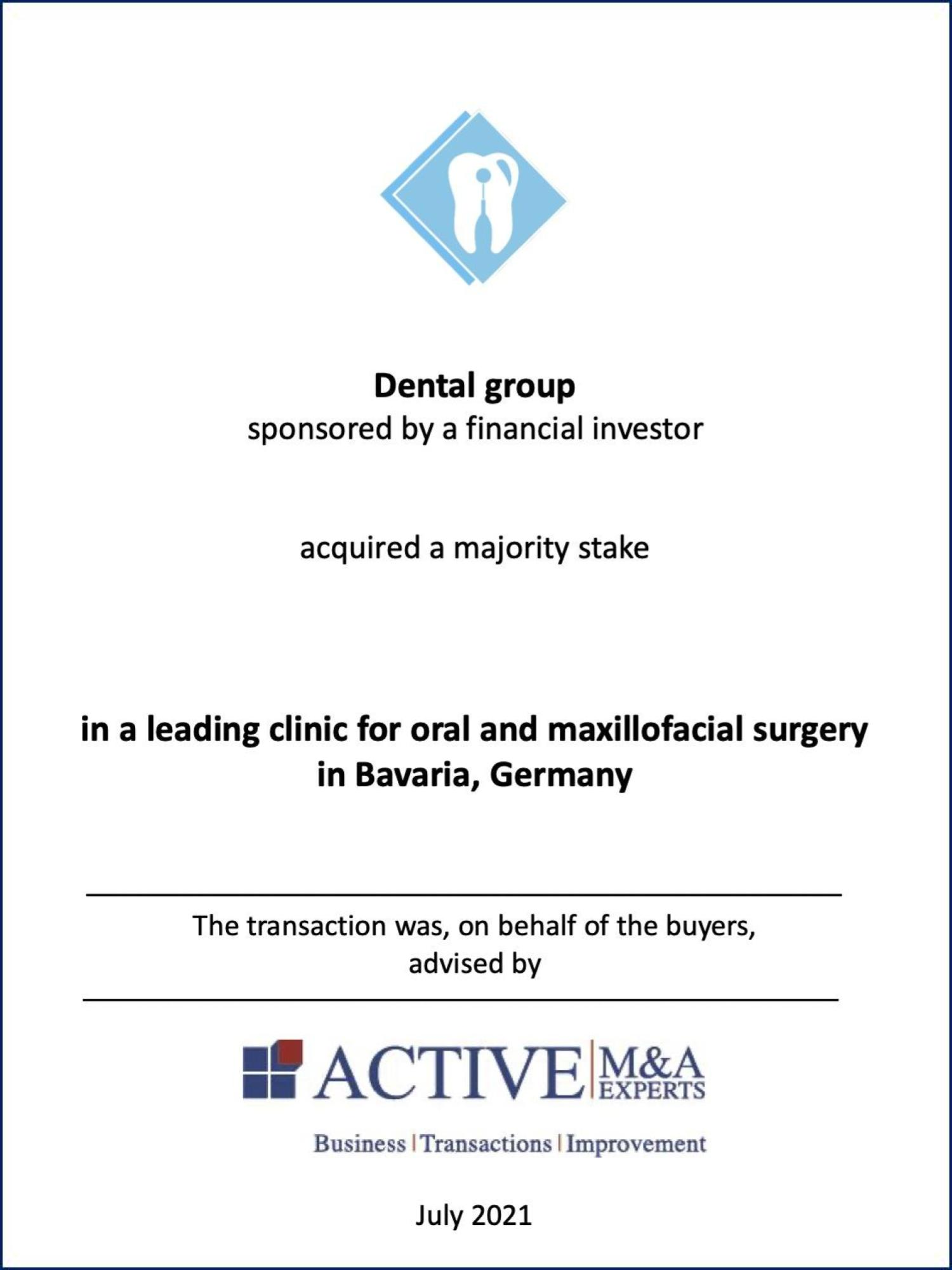 ACTIVE Beratung Dental Group Acquisition