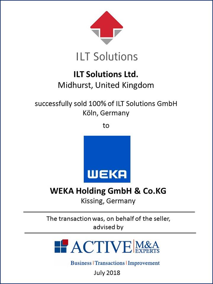 ILT Solutions GmbH wurde an WEKA Holding GmbH & Co. KG verkauft