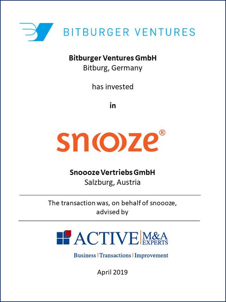 Bitburger Ventures GmbH hat in Snoooze Vertriebs GmbH investiert