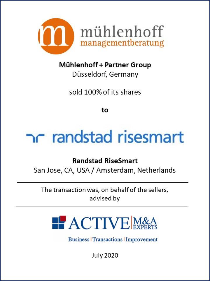 Mühlenhoff + Partner Group an Randstadt RiseSmart verkauft