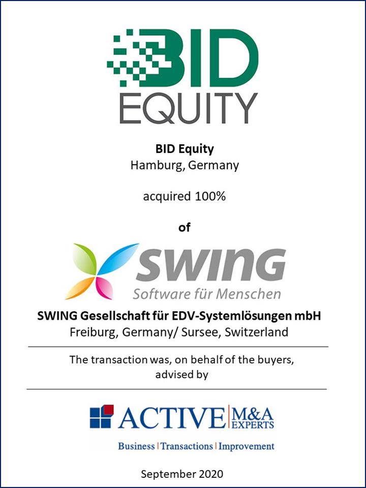 BID Equity kauft SWING Software für Menschen