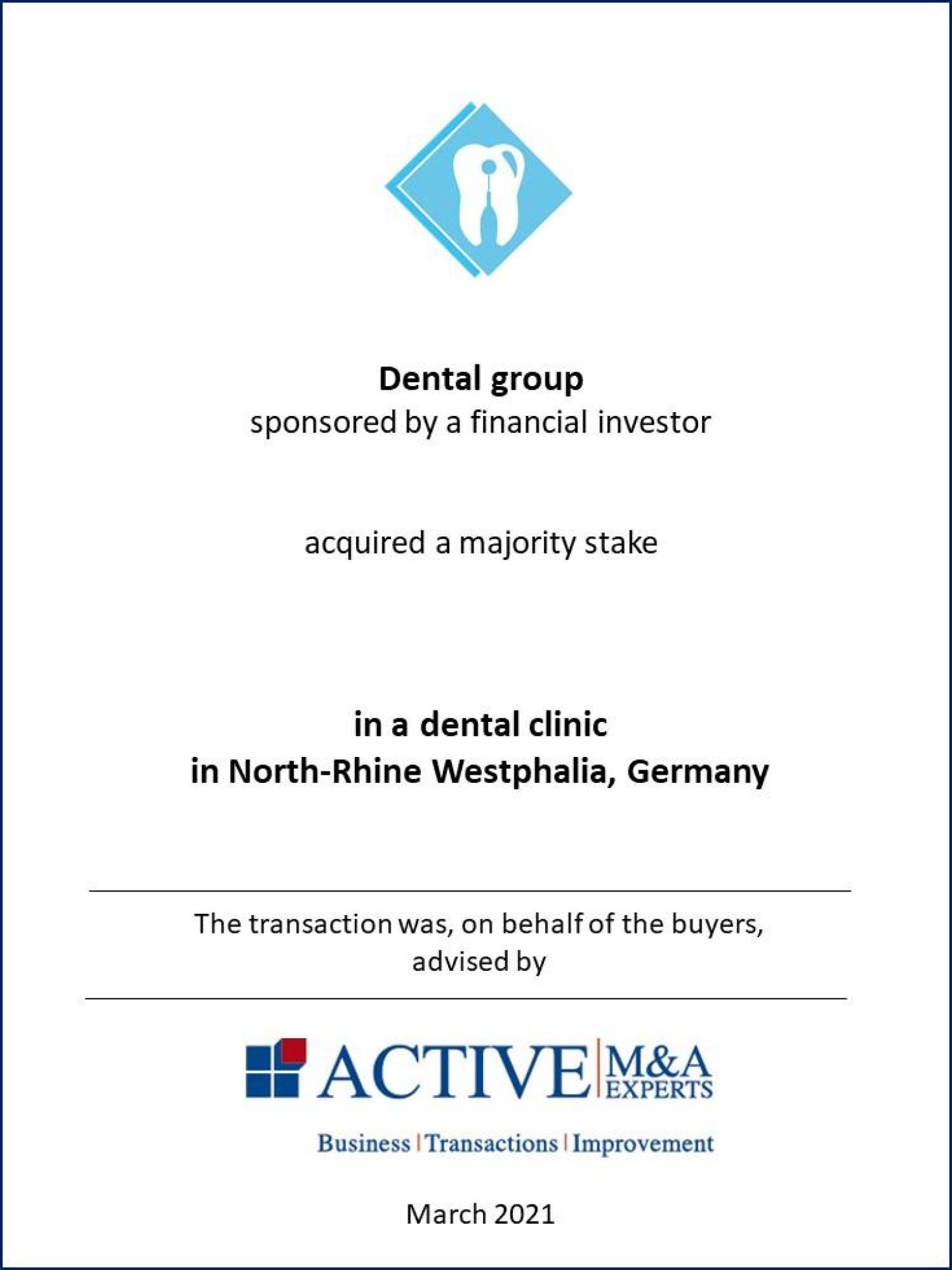 Zahnarzt-Gruppe kauft Zahnarztklinik, ACTIVE-Beratung